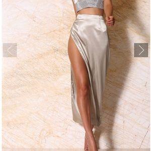 Meshki light olive skirt